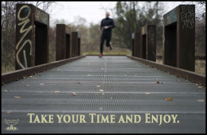 """3rd part of the series: Take your time and enjoy. 1st: There is no way to happiness. 2nd: Happiness is the way. Showing runner in park """"Natur-Park Schöneberger Südgelände"""" in the city of Berlin where nature and art are meeting in the industrial setup of a former marchalling yard. I was playing with focus and blur that day. Everything depends on your perspective - no matter if in photography or in life. Nothing against running, but if happiness is the way, running will not get you there any quicker."""