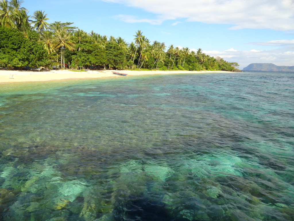 Whitesand beach with plam trees and crystal clear water at Bangka Island, North Sulawesi, Indonesia (Photo: Fabio Achilli, flickr with cclisence)
